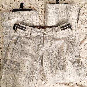 DNA ski pants in snake print